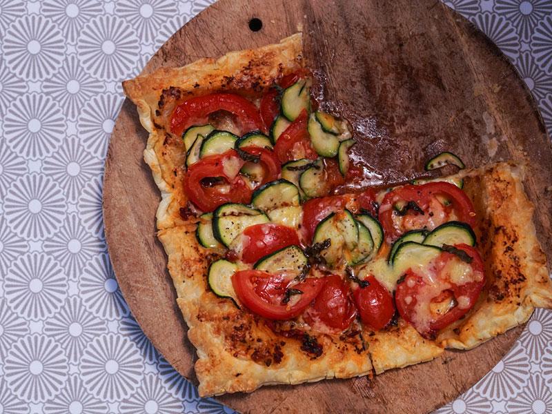 Une tarte façon pizza
